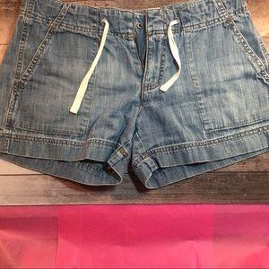 Gap jean shorts with drawstring. Size 8